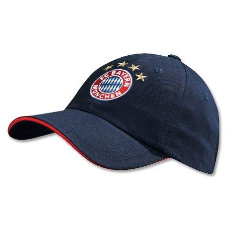 FC Bayern Baseballcap Logo Baseballkappe navy Fcbayern 9507 (Hut Fußball Navy)