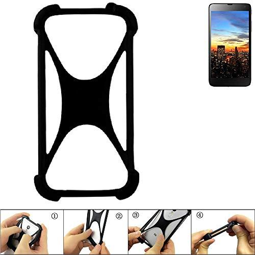 K-S-Trade Handyhülle für Hisense HS-U970E-8 Schutz Hülle Silikon Bumper Cover Case Silikoncase TPU Softcase Schutzhülle Smartphone Stoßschutz, schwarz (1x)