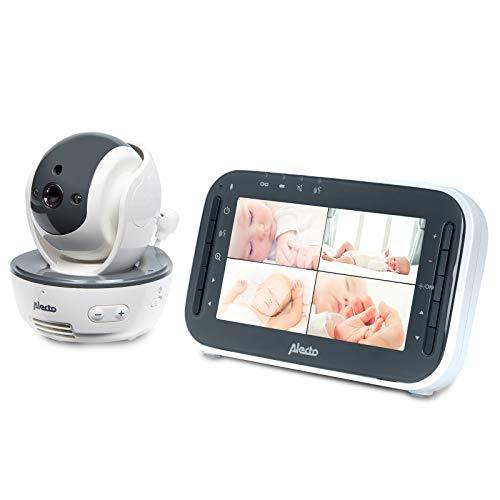 Alecto DVM-200 Funk Babyphone (100{0b893031569f7666cc3e1307b04814618e64c563f9cf5f1328f9cc9b73c13ba6} störungsfrei), mit steuerbarer Kamera, Nachtsicht, hohe Reichweite von bis zu 300 Meter, 11 cm. Mehrkameradisplay...