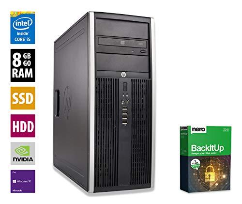 Gaming PC | HP Elite 8200 CMT | Nvidia Geforce GTX 1050 | Intel Core i5-2400 @ 3,1 GHz | 8GB DDR3 RAM | 1000GB HDD | 250GB SSD | DVD-Laufwerk | Windows 10 Pro (Zertifiziert und Generalüberholt)