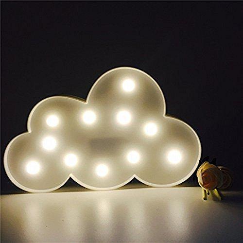 Süße LED Nachtlichter Stimmungslicht Schreibtischlampen Babyzimmer Kinderzimmer Dekorationen Geschenke (Wolke, Weiß) -