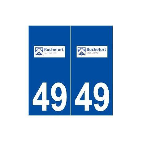 49-rochefort-sur-loire-logo-autoadhesivo-placa-adhesivos-ville-derechos
