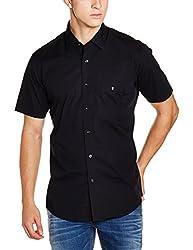 Louis Philippe Sports Mens Casual Shirt (8907239858186_LYSH1S00492_39_Black)
