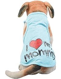 YiJee Mascota Carta Impresión Chaleco Verano Ocio Respirable Perro Camiseta