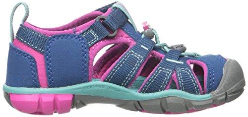 Keen SEACAMP II CNX T-ENSIGN BLUE/CAMELLIA RO 1010091 Unisex-Kinder Sandalen Blau (Poseidon/Very Berry)
