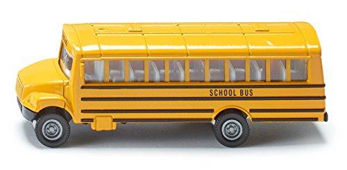 SIKU 1319 - Autobus Scolaire Américain, Jouet Pour Enfants, Métal/Plastique, Jaune, Pneus En Caoutchouc
