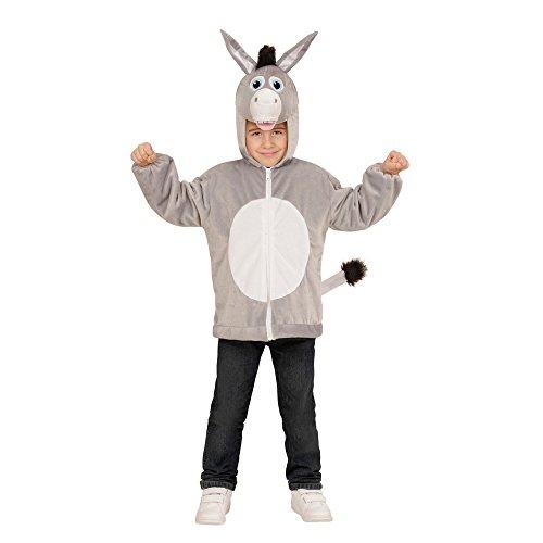 Widmann 97452 - Kinderkostüm Esel aus Plüsch, Jacke mit Kapuze und Maske