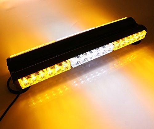 Hot 108W Double Side 6* 636LED lang Auto Truck Notfall Strobe Flash Light Bar Scanner Lampe Beacon Gitter Lightbar Bernstein & Weiß