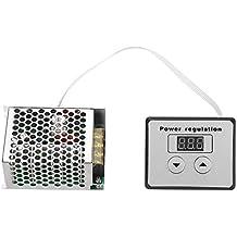 Controlador de voltaje, 4000W SCR Regulador de voltaje digital Control de velocidad Regulador Termostato AC