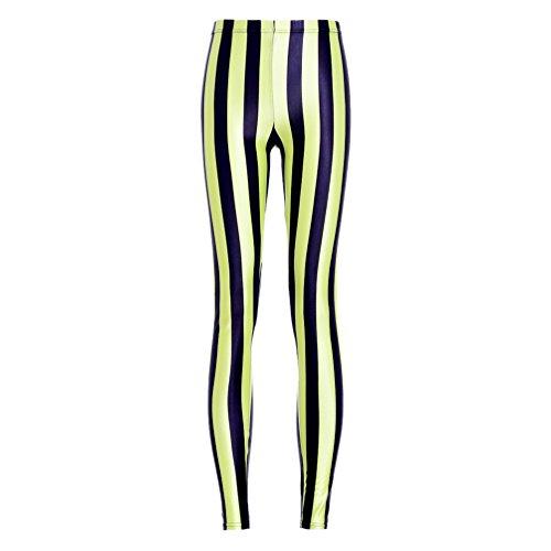 Ayujia Yoga Hosen Leggings Digitaldruck Grün Schwarz Vertikale Streifen Slim -