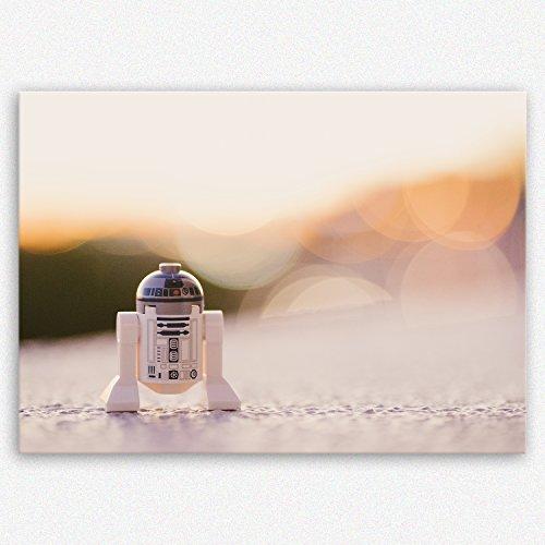 (ge Bildet !!! SENSATIONSPREIS Hochwertiges Leinwandbild - R2-D2-30 x 20 cm einteilig | Angebote der Woche Geschenke für Frauen Geschenke für männer |)