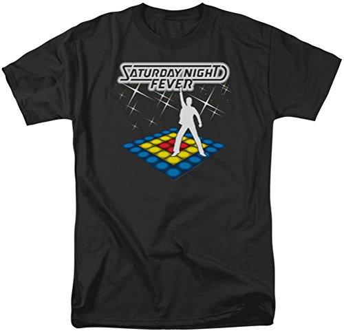 Saturday Night Fever - Männer sollten Be Dancing T-Shirt in schwarz, XX-Large, Black (Fever-shirt Saturday Night)