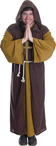 Herren Erwachsene Karneval Halloween Junggesellenabschied Outfit Friar Tuck religiös Kostüm