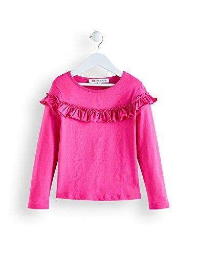 Red wagon maglia a manica lunga con rouches bambina, rosa, 104 (taglia produttore: 4 anni)