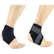 Tobillera adjustable (par) Oliked Protección de tobillos Neopreno Transpirable Unisex Tobillo esguince ideal para prevenir lesiones en el tobillo de las actividades diarias