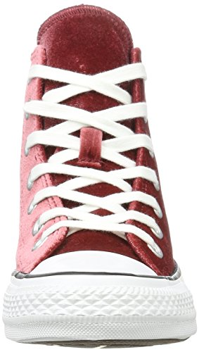Converse Ctas Hi Red Block White, Baskets Hautes Mixte Adulte Rot (Red Block)