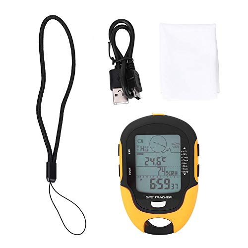 Altímetro barométrico Digital Multifuncional Brújula Pronóstico del Tiempo Navegador GPS Receptor Portátil...