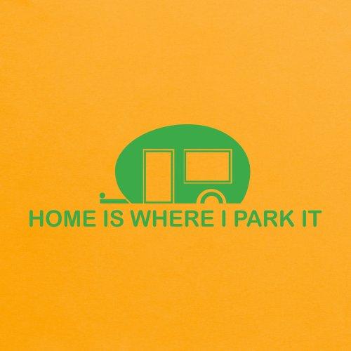 Home is Where I Park It T-Shirt, Damen Gelb