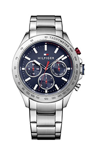 tommy-hilfiger-hudson-mens-quartz-watch-with-blue-dial-analogue-display-and-silver-stainless-steel-b