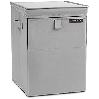 brabantia stackable laundry basket 35 l grey