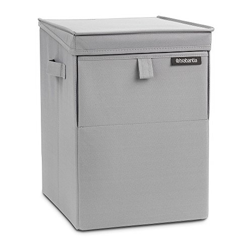Brabantia stackable laundry box portabiancheria, 35 l, grigio