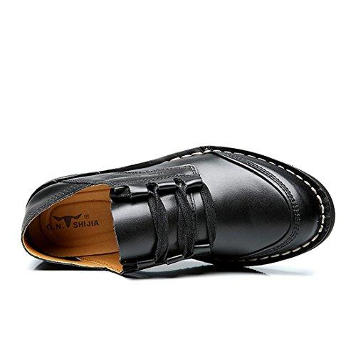 Uomo Moda Scarpe di pelle Scarpe casual Leggero Confortevole Scarpe da diporto Ballerine Antiscivolo traspirante Scarpe pigri euro DIMENSIONE 38-44 Black