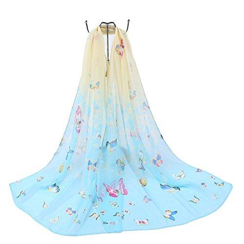 Aloiness sciarpe donna sciarpa scialle di eleganti sciarpa stole ideale per abiti da sera, matrimoni, feste, per damigella d'onore, sposa o vestiti da sposa o prom proms