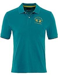 La Martina Herren Regular-Fit pique Polo-Shirt von miguel Blau