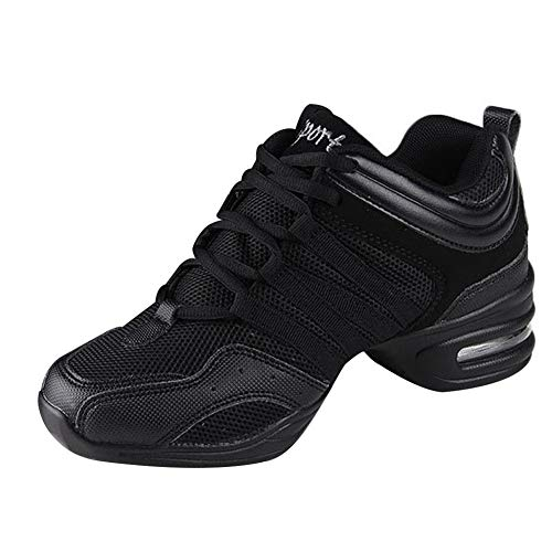 uirend Schuhe Sport Outdoorschuhe Tanzschuhe Damen - Mesh Lace Up Schuh Modern Tanz Jazz Tango Gymnastik Sportschuhe Freizeit Training Sneaker Atmungsaktiv Bequem