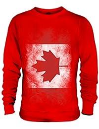 Candymix Canada Drapeau Dégradé Unisexe Sweat-Shirt Homme Femme
