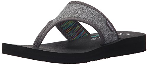 Skechers Cali Meditation Zen Child Flip Flop, Grey, 36 EU