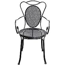 Awesome Gartenstuhl Bistrostuhl Metall Antikstil Cm Garten Bistro Stuhl  Schwarz With Gartensthle Metall
