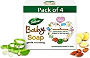 Dabur Baby Soap: For Baby's Sensitive Skin with No Harmful Chemicals |Contains Aloe Vera & Almond Oil