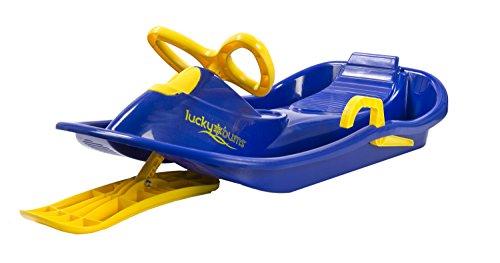 lucky-bums-bambini-bambini-neve-plastica-racer-sledge-blue-giallo-taglia-unica-bambino-snow-blue-yel