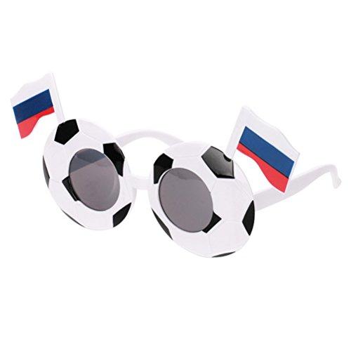 rille WM Brillen Partybrillen Kostüm Fußball Fanartikel Sonnenbrille mit Russland Flagge (Russland Kostüm Für Kinder)