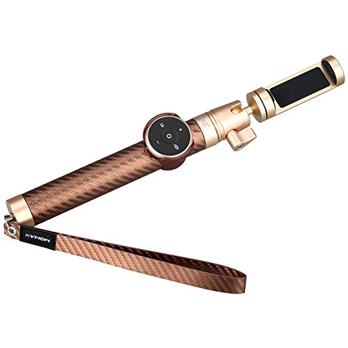 Carbon-faser-stöcke (Blitzwoll Auslese-Carbon-Faser-Intelligente Selfie-Stock-Kamera 1/4 Schraube 6 Längen Flexibles Rohr Metallyuntai-Präzision CNC-Prozess Weit Kompatibles Verschiedenes Kamera-Smarttelefon,Gold)