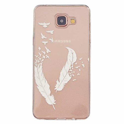 MOTOUREN Samsung Galaxy A3(2016 Version) Coque , Transparent Crystal TPU Ultra Mince Ultra Léger Silicone Doux TPU Case Cover Housse Etui pourSamsung Galaxy A3(2016 Version) - printemps