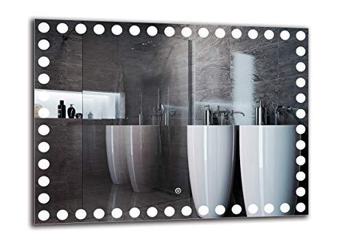 Espejo LED Deluxe   Dimensiones Espejo 80x60 cm