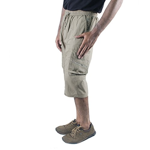 574bc38898 Buy 0-Degree Shorts 3by4 knee length Three Fourth Capri Men Chinos Classic  Cotton Bermuda Beige 30 (3by4ClassicSoloBeige) on Amazon | PaisaWapas.com