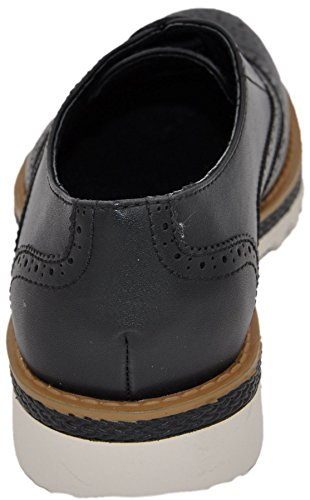 chaussures à lacets, derbies homme à bouts fleuris, chaussures de ville noir 3107
