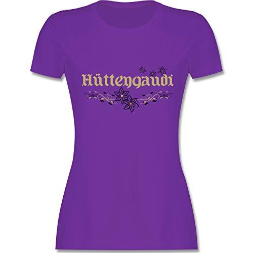 Après Ski - Hüttengaudi - tailliertes Premium T-Shirt mit Rundhalsausschnitt  für Damen Lila