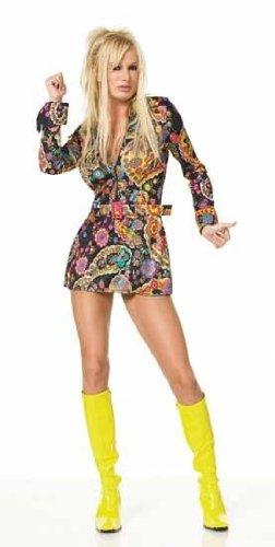 Leg Avenue - 2-Teiler Go-Go-Girl-Kostüm, Kleid, Gürtel - ML - Mehrfarbig - 83065