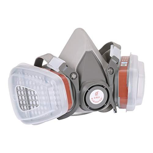 Filtro profesional del respirador del gas de la máscara de cara media para las máscaras de seguridad del trabajo de la rociadura de la pintura Prevenga el vapor orgánico