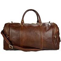 Bolso de viaje deportiva mujer bolsa de hombre con asas y correa de piel genuina bolso de cuero bolso de mano bolso espalda marron