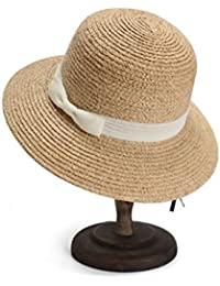 AREDOVL Sombrero de Mujer Primavera Verano Dome Cuenca Sombrero de Pescador  Sombrero Blanco Sombrero de Visera f5775f41b82