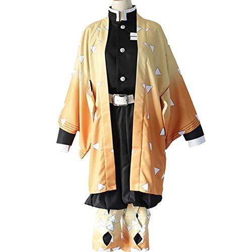 Full Professionelle Kostüm Set - DXYQT Anime Cosplay Kostüm Halloween Karneval Uniform Jacke Futter Hosen Full Set Kleidung Halloween Show Cosplay Kostüm,Yellow-L