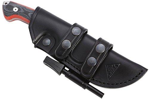 AXARQUIA ONE - Premium Qualität - professionell Überlebensmesser, Gürtelmesser, Outdoor/Survival Messer, Jagdmesser, Stahl MOVA-58, Lederscheide + Feuerstahl. Entworfen und Hergestellt in Spanien.