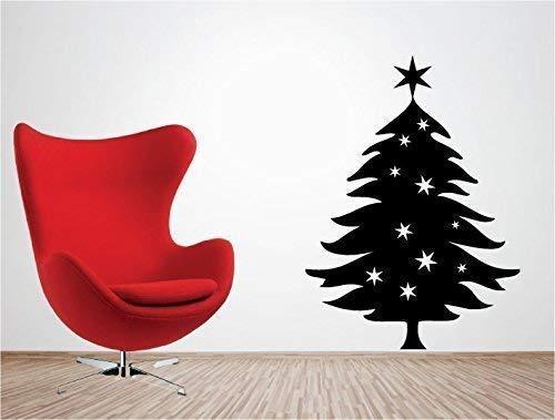 Online Design Árbol de Navidad Adhesivo de Vinilo para Pared Decoración Navidad - Marrón
