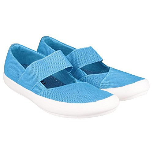Cotswold Ladies Chedworth Slip On Textile Summer Shoe Light Blue Turqoise
