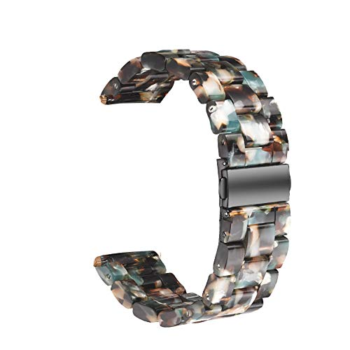 WAOTIER für Apple Watch 42mm Armband Acetate Ersatzarmband Retro Armband für Apple Watch Series 3 Series 4 mit Edelstahl Verschluss Kompatibel iWatch 42mm für Frauen Männer (Muster H)